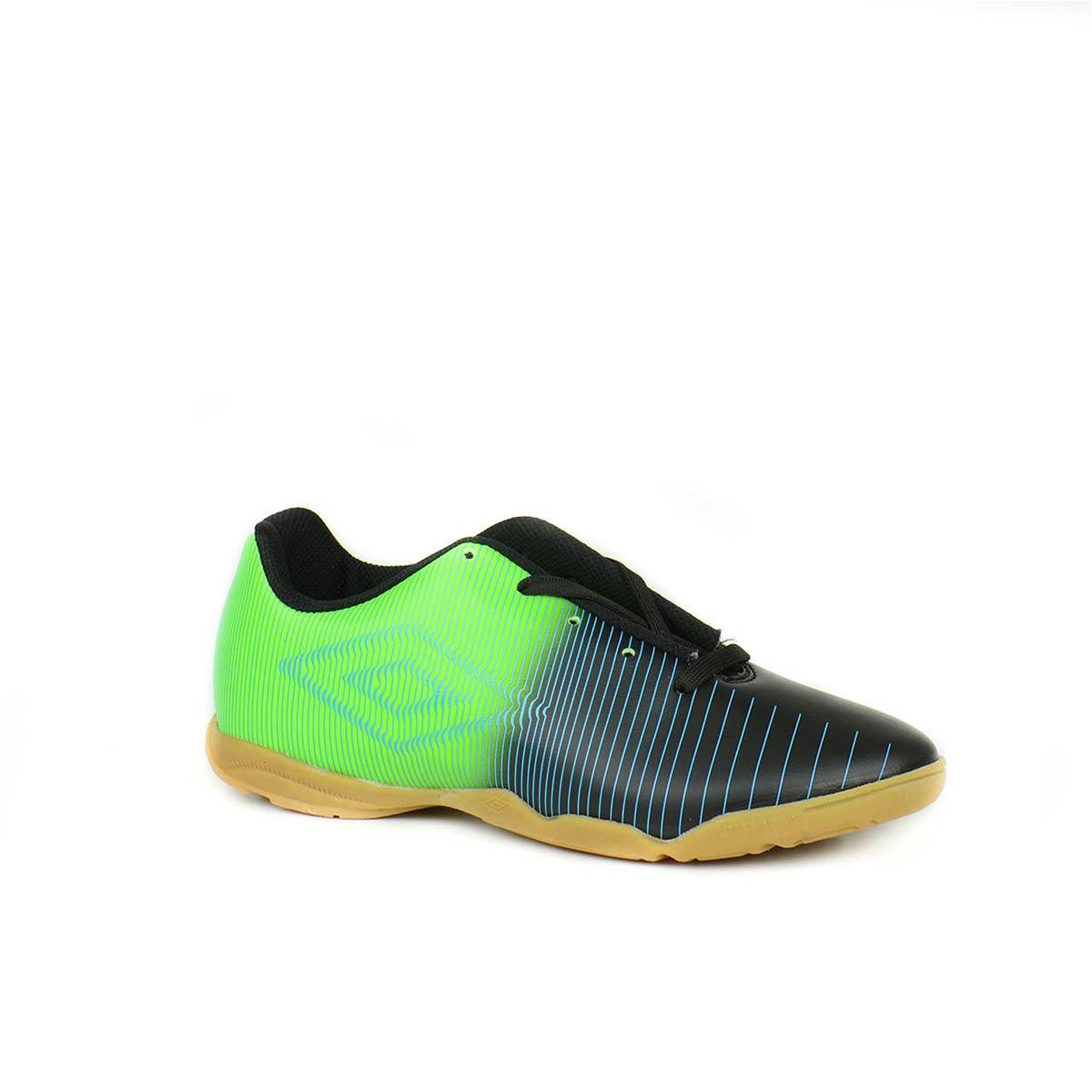 f114badea6 Chuteira Futsal Umbro Preto Verde. Referência  Umbro Vibe Id JR